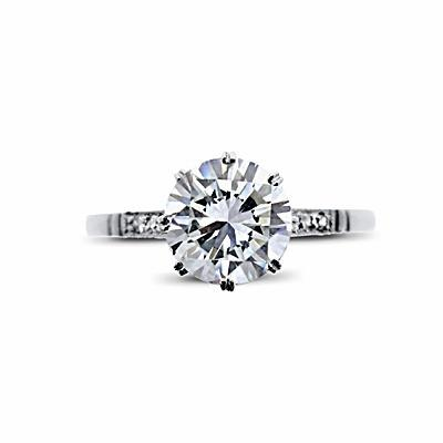 Vintage Brilliant Cut Engagement Ring 1.19ct G SI2 HRD